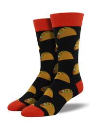 Tacos Black Mens Socks