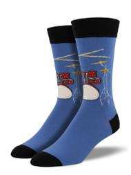 Drum Solo Blue Fog Mens Socks