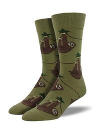 Sloth Olive Mens Socks