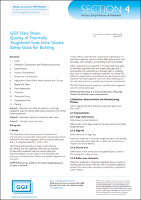 Section 4 - Products, Glazing Techniques and Maintenance: Quality of Thermally Toughened Soda Lime Silicate Safety Glass for Building (ref: 4.4)
