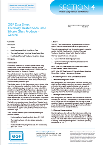 Section 4 - Products, Glazing Techniques and Maintenance: Thermally Treated Soda Lime Silicate Glass Products - General (ref: 4.4.1)