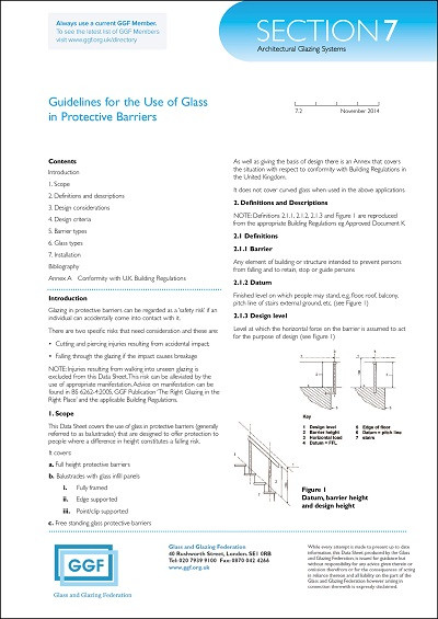 Guidelines for Use of Glass in Buildings