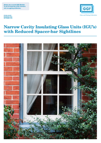 Narrow Cavity Insulating Glass Units (IGU's) with Reduced Spacer-bar Sightlines (ref: 50.5)