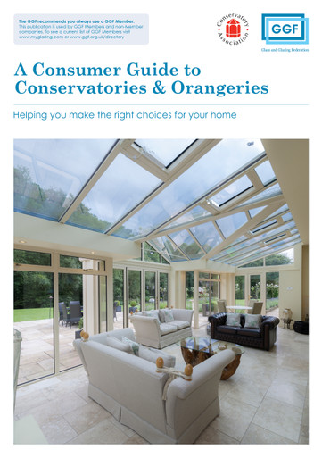 Consumer Guide to Conservatories and Orangeries
