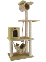 Cat Tree Furniture Condo - 62 Inches