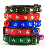 Buddy Cat Reflective Paw Breakaway Safety Collar