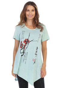 c4b4ebe5bbb Mint. Quick View. M4-1182 Jess & Jane Mineral Washed Asymmetric Tunic -