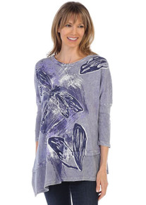 a67246122cd Vintage Blue. Quick View. M41-1287 Jess & Jane Mineral Washed Asymmetric  Tunic ...