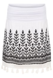 Tribal Embroidered Skirt w/Tassels 6171O