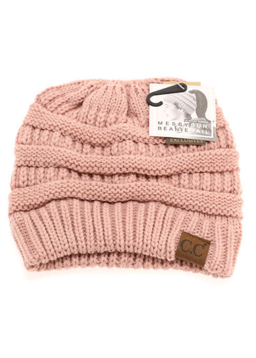 C.C Beanie - Solid Color BeanieTail Hat MB-20A - Rosannes bf83a453df7