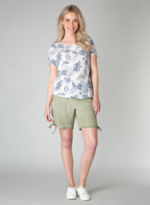 Yest Soft Tropical Print Tee 31353