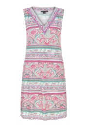 Tribal Sleeveless Beaded Dress 3482O -Size M