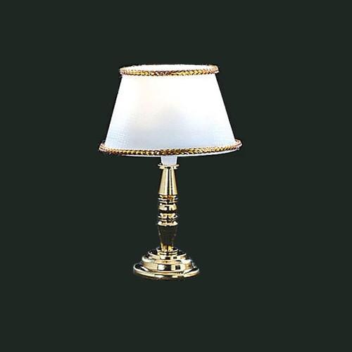 Dollhouse Miniature Gold Base Table Lamp (CK4642)