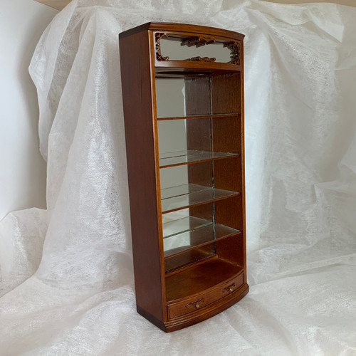 Dollhouse Miniature Emporium Cabinet (BES1900E-NWN) front and side angles