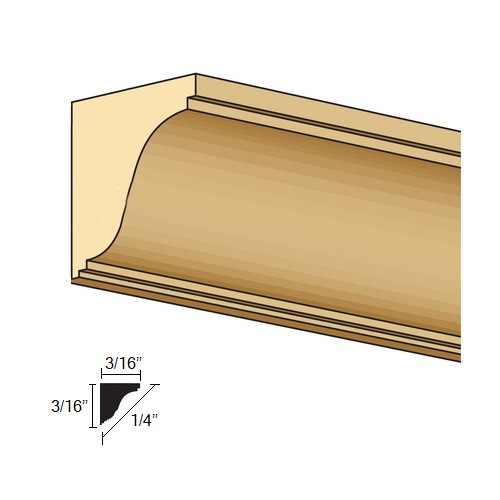 "Illustration of 1/2"" Scale Crown Cornice (NE967)"