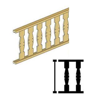 Flat Spindle Railing (CLA70248) illustrations