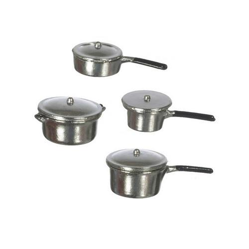 Eight-Piece Aluminum Pot and Pan Set
