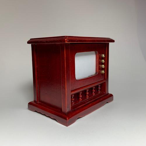 Television Set Mahogany (AZT3586) left side front