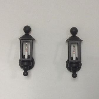 Clare Bell Brass Works Black Coach Lamps (CBB1790-330)