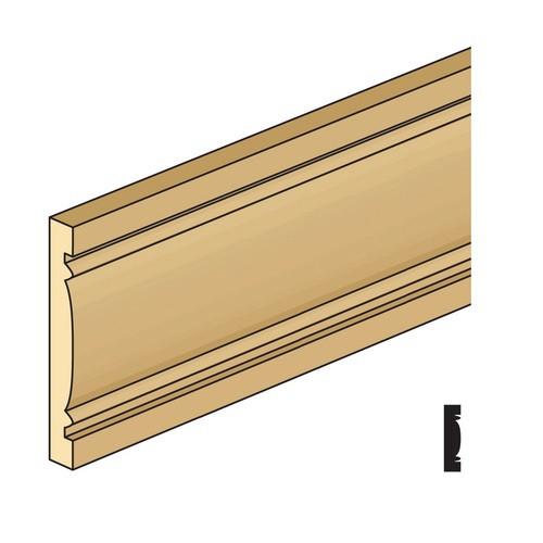 """1/4"""" wide basswood miniature door and window casing"""