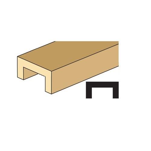 "Illustration of 1/2"" channel molding"
