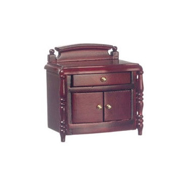 Mahogany night stand with drawer and two doors