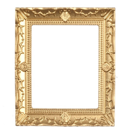 Large Gold Tone Frame Jeepers Dollhouse Miniatures