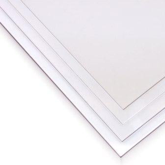 "Package of 2 clear plastic sheets, each measuring about 8.5"" x 11""."