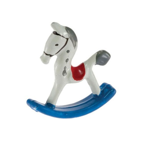 Painted metal rocking horse toy