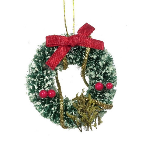 Christmas holiday wreath with red bow