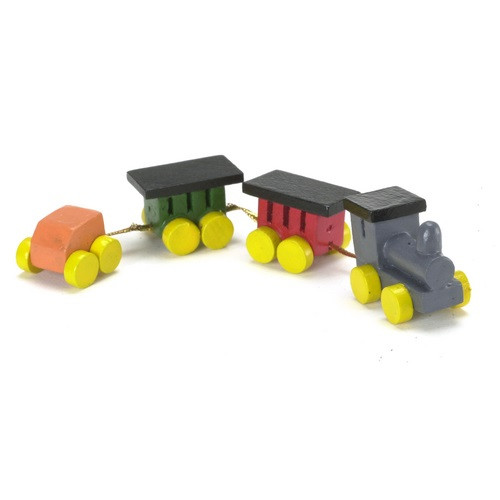 Painted wood toy train