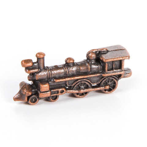 Antique look copper finish steam engine toy