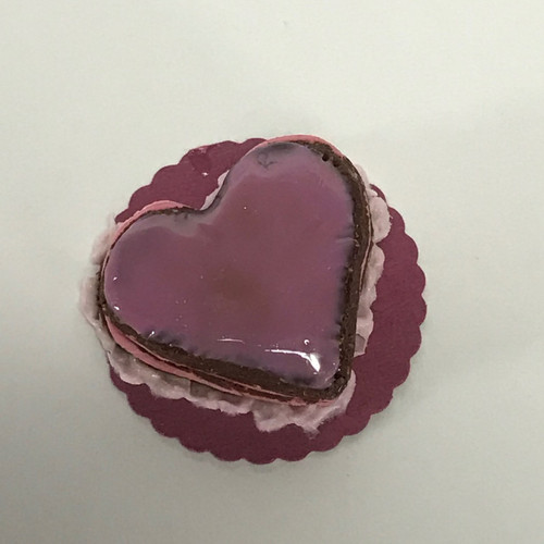 Heart shaped cake in shades of pink