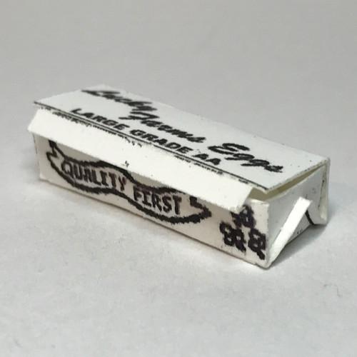 White egg carton, closed