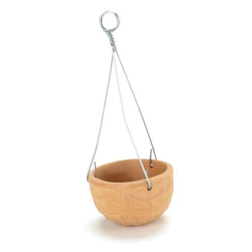 Terra cotta flower pot for hanging