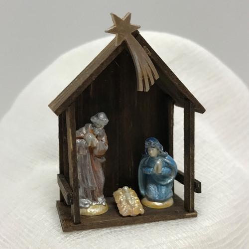 Medium Holy Family Creche dollhouse miniature