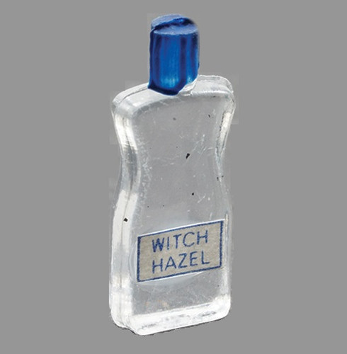 Tiny bottle of miniature witch hazel
