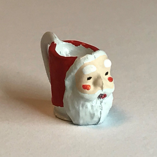 Hand-painted miniature Santa mug (alternate angle)