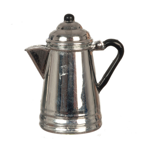 Miniature silver coffee pot (percolator)