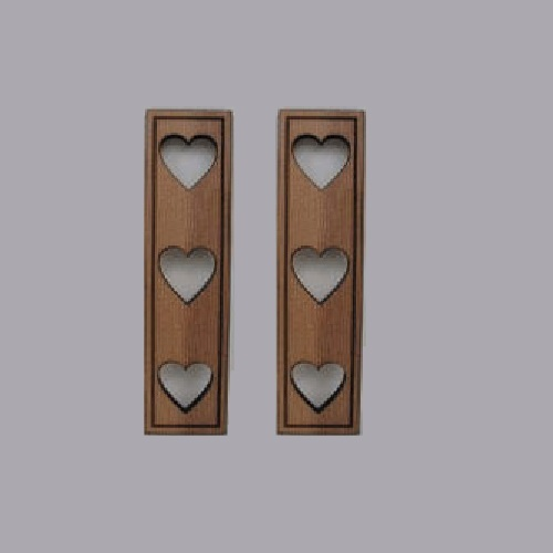 "Miniature dollhouse ""heart"" shutters"