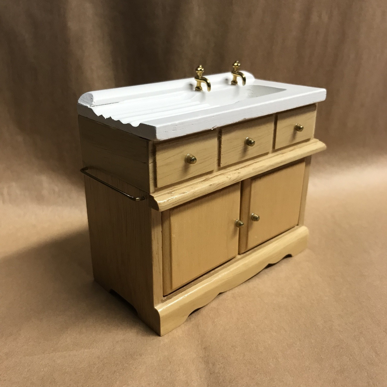 Azd0144a Country Kitchen Sink Jeepers Dollhouse Miniatures