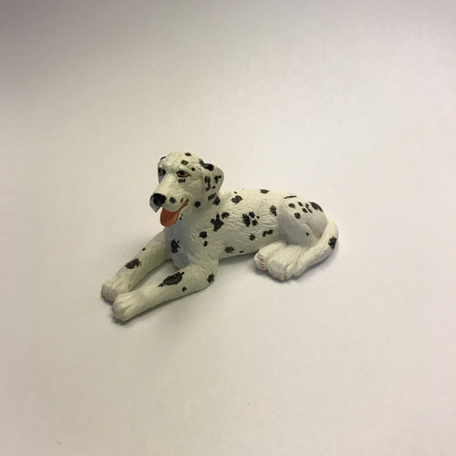 Miniature dalmatian, a fireman's friend
