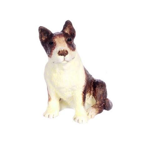 Dollhouse miniature bull terrier
