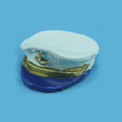 Miniature sailor's cap (blue background)