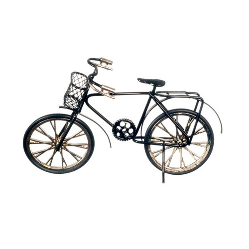 Black two-wheel miniature bicycle