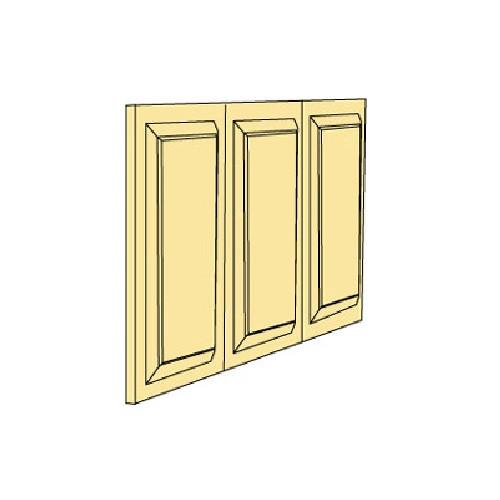 Three raised panel door sections (Illustration)