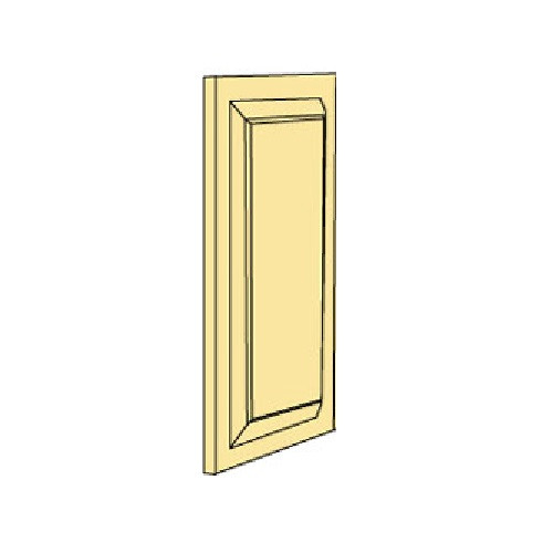 Illustration of single (double sided) raised door panel