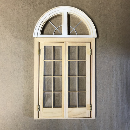 Image showing the two main units for the French Country house door w/fanlight