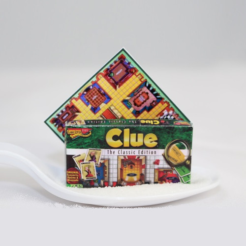 Dollhouse miniature version of the board game Clue