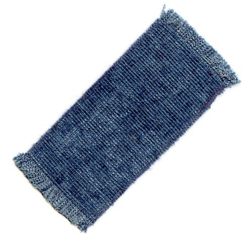 Small dollhouse rug in bluish tones